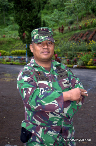 Indonesian Military - enroute to the Ijen volcano in Java