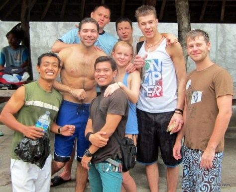 Group shot - after diving in Bali - Visit50.com