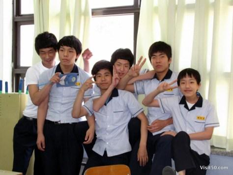 teaching english in South Korea - ESL classroom fun - the boys