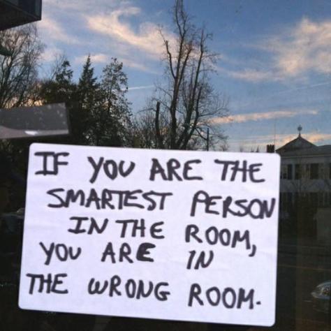 cartoon - smartest in the room