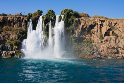 The Duden waterfall in Antalya, Turkey