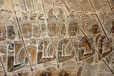 The walls of Ankor Wat tell stories of war heroes and battles from their troubled past - Visit50.com