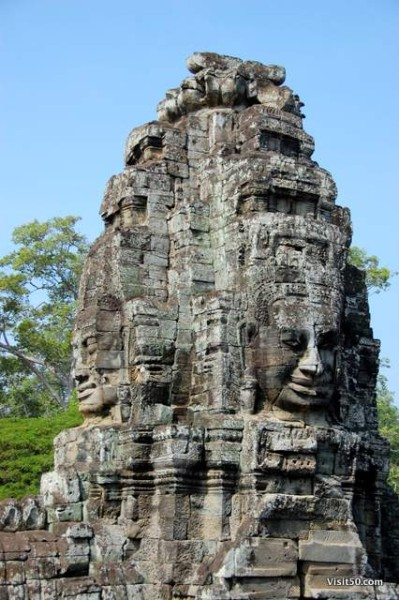 photo from from the vantage point of the Bayon temple's the upper terrace, Cambodia