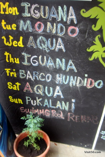 Bocas del Toro nightlife schedule - every night in Bocas seems to have a different featured bar