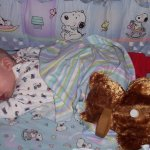 TJ the tummy sleeper