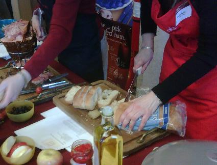 Ham panini demo by Cook's Ham