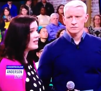 Christina Gleason with Anderson Cooper on Anderson Live