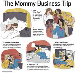 Mom Caricatures from the WSJ