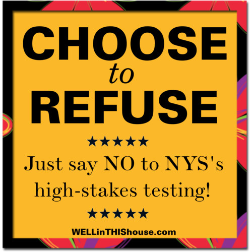 Our  Nys Common Core Testing Refusal Letter