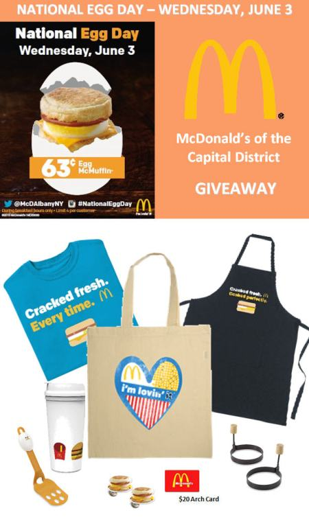 McDonald's Egg Day Giveaway