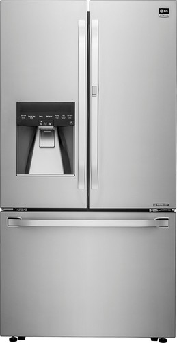 LG - Studio 23.5 Cu. Ft. Counter-Depth French Door Refrigerator - Stainless Steel from Best Buy