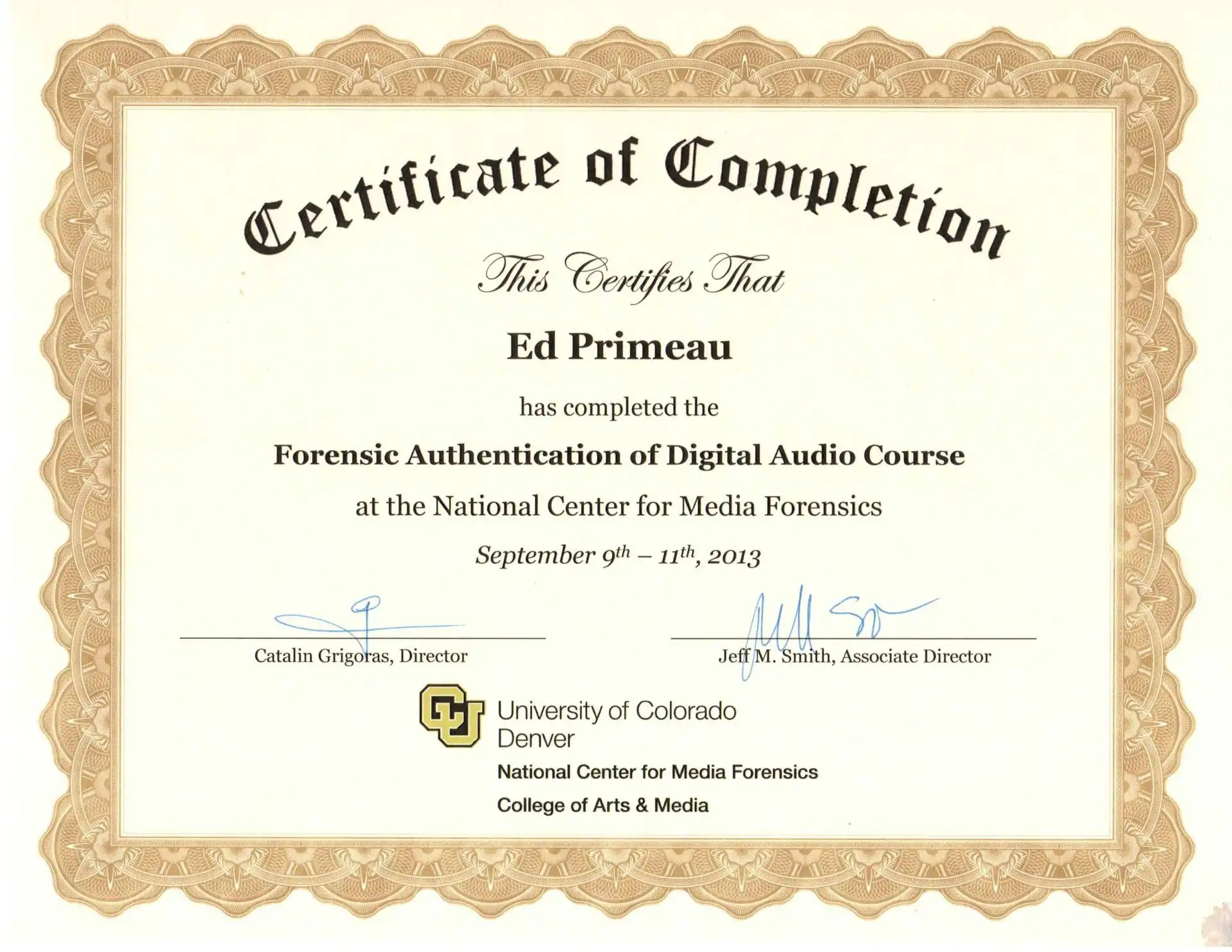 Forensic Expert Training Experience Primeau Forensics