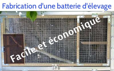 Fabrication batterie d'élevage