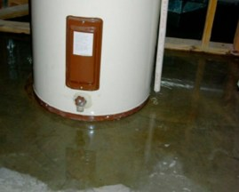 leaking water heater imageleaking water heater image