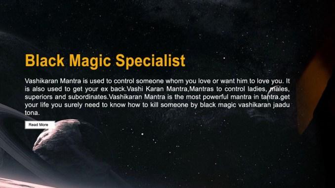 Black Magic to Control