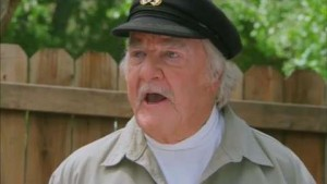 Jimmie as Capt. Thorne Sherman warning about the return of the killer shrews in 2012.