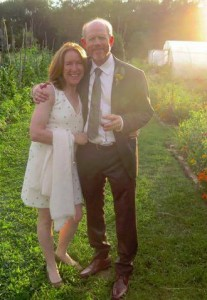 GARDEN PARTY--Cheryl and Ron Howard at the wedding of son Reed and bride Ashley Gioffre on August 8 at Winvian Farm in Connecticut. Tweeted by Ron, whom you can follow on Twitter at @RealRonHoward.