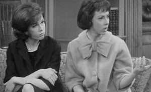 "FORMIDABLE NEIGHBORS--Ann as Millie with Mary Tyler Moore on ""The Dick Van Dyke Show."""