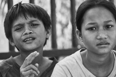 Die Bevoelerung in Kambodscha hat Grausame Jahre hinter sich.