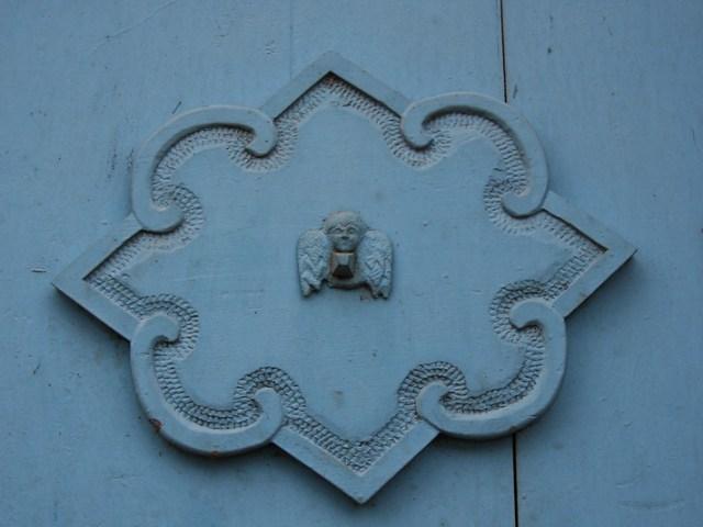 Church door detail, Pisac, Peru