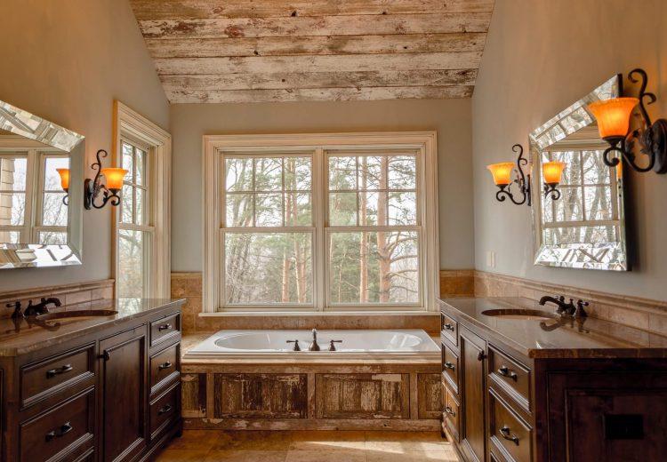 dual side sink to bathtub