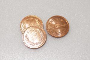 靴の臭い対策,10円玉,銅