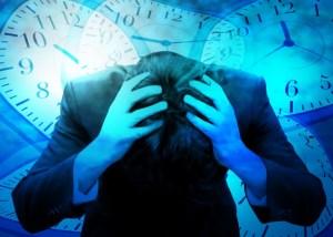 仕事で不安を抱える男性