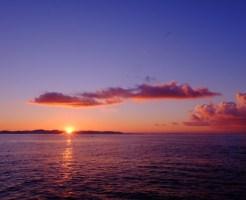 江ノ島の渋滞回避には早朝の朝焼けを見る