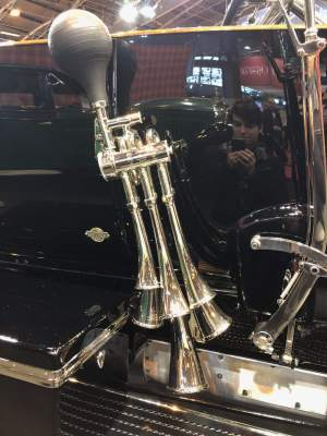 Details on a Rolls Royce on Fiskens' stand