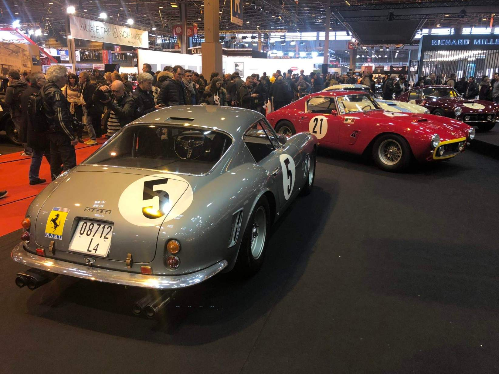Lukas Hüni's stand was the most... Amazing, astonishing, wonderful! With no more than ten 250 GT Berlinetta Passo Corto