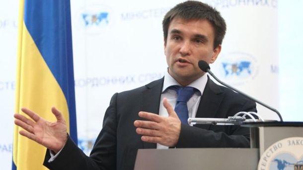 Климкин призвал ООН быть неменее инициативной врешении войны наДонбассе