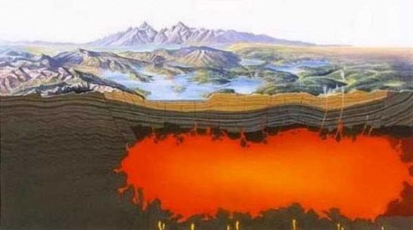 Под крупнейшим супервулканом Земли найдено немалое углеродное море