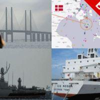В Балтийском море столкнулись российский фрегат и торговое судно.
