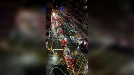 Число погибших увеличилось до 46, десятки получили ранения в результате внезапного пожара, охватившего тайваньское « здание-призрак »