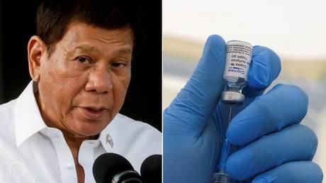 Дутерте из Филиппин предлагает новый способ решения проблем с вакцинацией