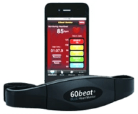60beat BLUE Heart Rate Monitor with smartphones app review at A-Fib.com