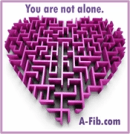 Maze heart You are not alone - with outline 175 pix at 96 res