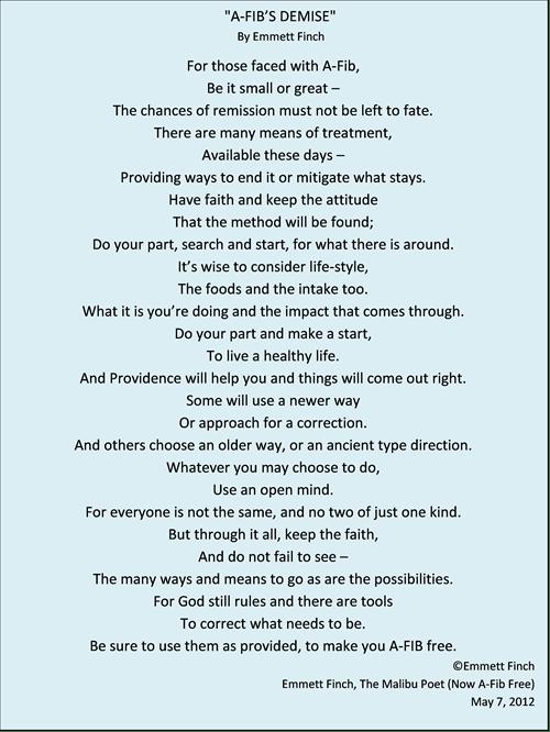 Emmett's Poem - A-Fib_s Demise