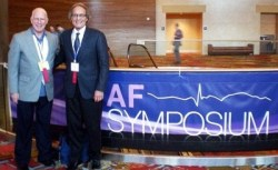 Steve with Shannon Dickson, editor of The A-Fib Report