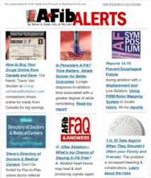 Subscribe Today! Steve's A-Fib Alerts at A-Fib.com