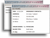 Free printable Med. ID Card from AllenLawrence.com at A-Fib.com