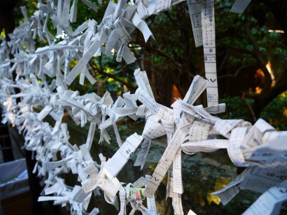 On peut trouver ces nœuds en papier partout dans le pays