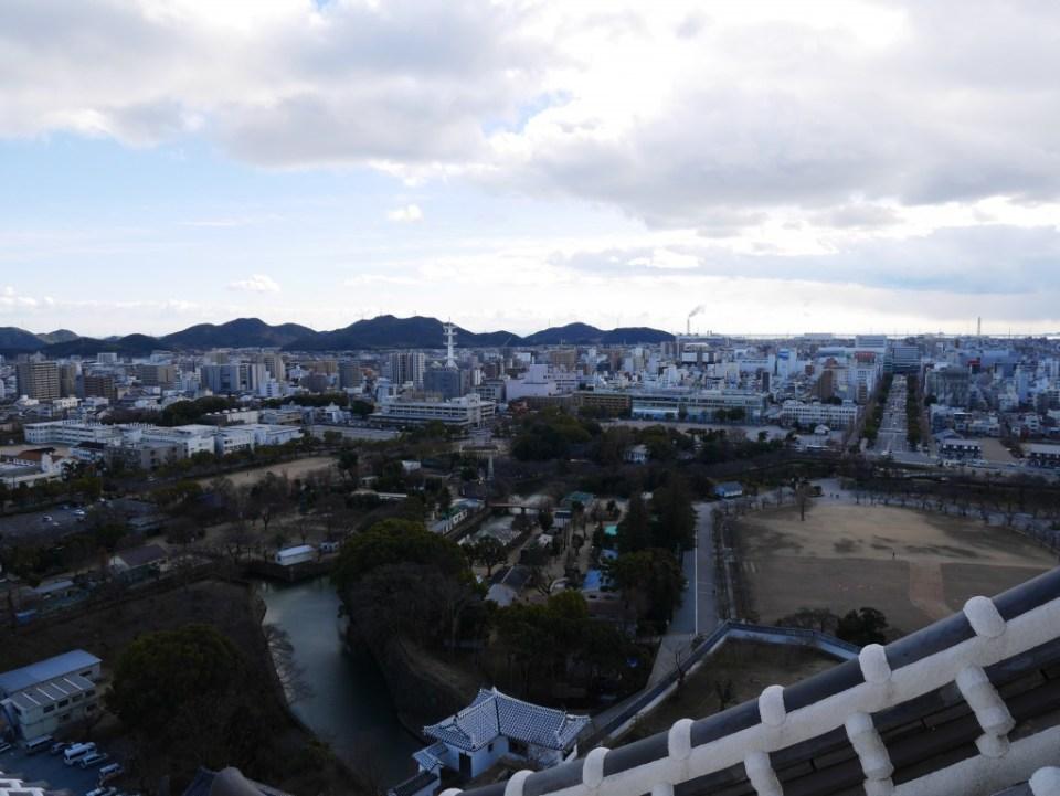 Vue de la ville de Himeji depuis le château