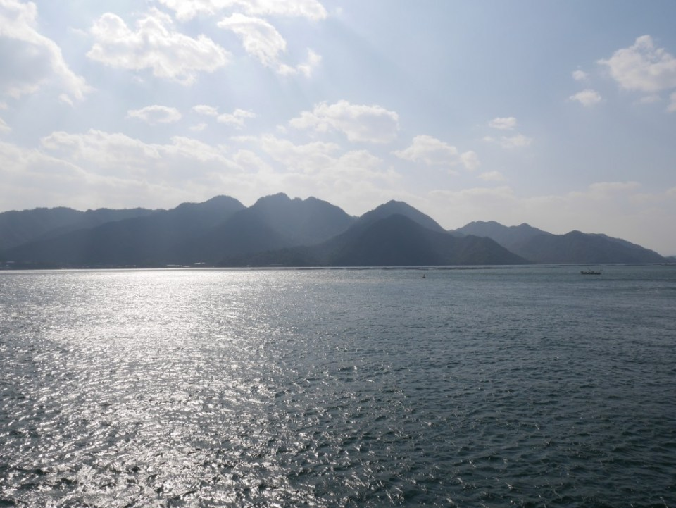 Sur le ferry vers Miyajima
