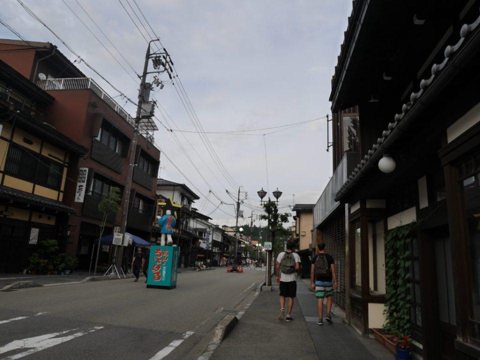 La rue où se déroulait le festival