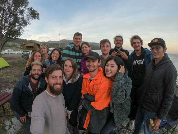 Group photo by Agustín apparently at Gordon Foreshore Reserve :)