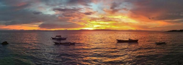 Coucher de soleil à Cebu