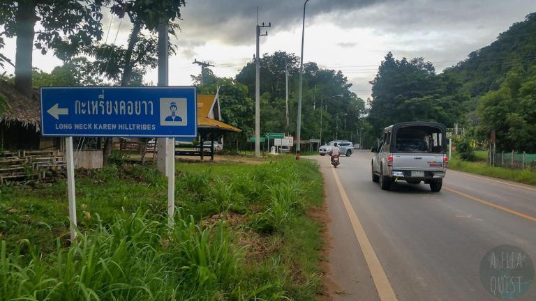 The way to a Karen village