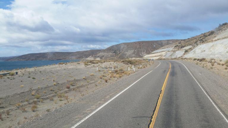 En s'approchant de la frontière avec le Chili