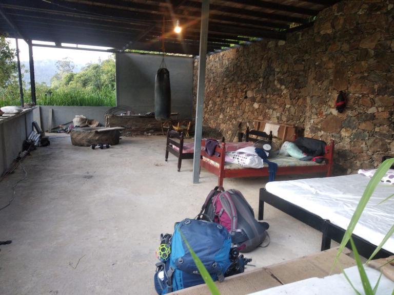 """La """"chambre"""" où nous dormons, sans mur"""